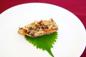 鮭の明太子黒酢マヨ焼き