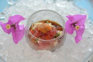 夏野菜と海鮮のポン酢ジュレ