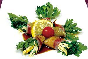 白身魚の季節野菜巻
