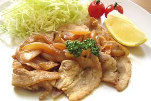 豚の黒酢生姜焼き