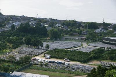 福山町では街のいたるところで壷畑を見ることができます