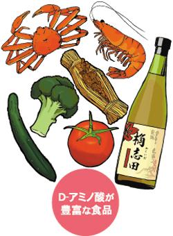 D-アミノ酸が豊富な食品