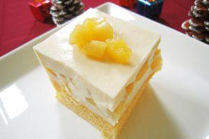 りんご黒酢豆腐レアチーズケーキ